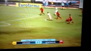 Golaço de letra na vitória do Criciúma 2 X 1 Atlético goianiense copa são paulo de júnior/2016