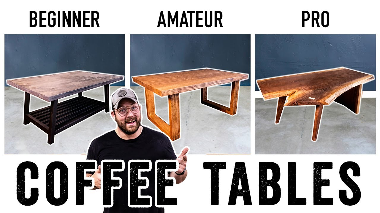 Download 3 LEVELS of Coffee Tables -DIY to PRO Build