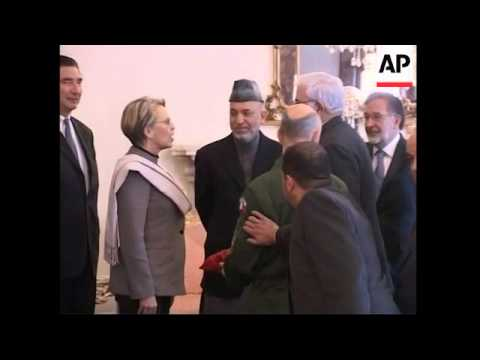 French Def Min Michele Alliot-Marie meets Kharzai and other officials