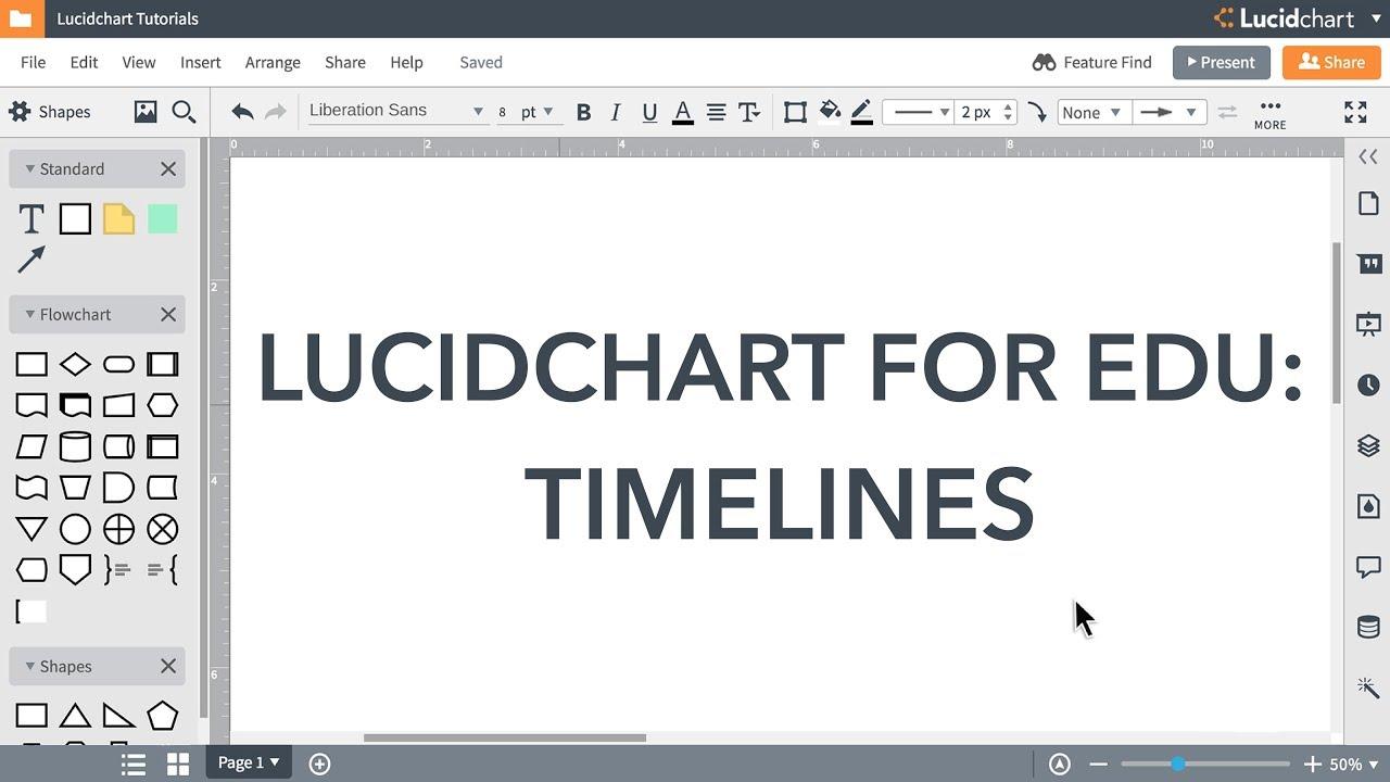 Lucidchart EDU Tutorials - Timelines for EDU