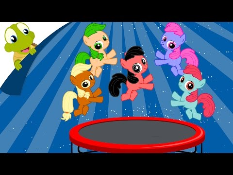 Five Little Pony Jumping On The Bed - MLP Fun Nursery Rhyme