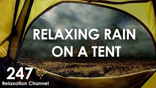 1 hour rain sounds on a tent with wind and moving clouds sleep relaxation calming no music