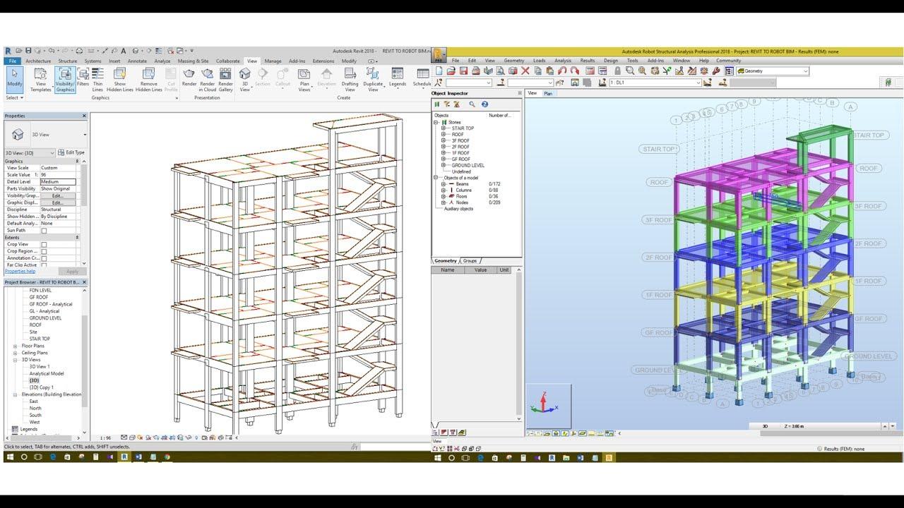 xuất mô hình từ Revit Structure sang Robot Structural Analysis