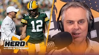 Colin believes report that LaFleur is tired of Rodgers, talks Russell Wilson | NFL | THE HERD
