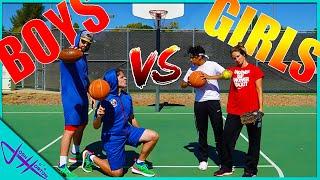 BOYS vs GIRLS Basketball Trick Shot H.O.R.S.E. Battle! PART 2