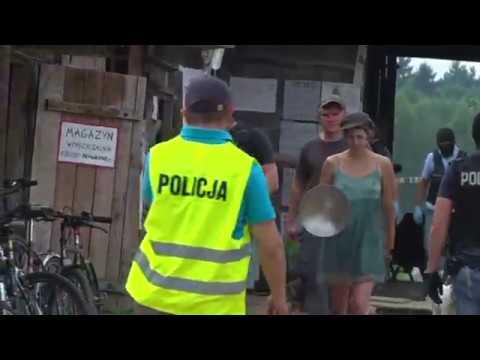 """Puszcza Białowieska - Policja w obozie """"Obrońców Puszczy"""""""