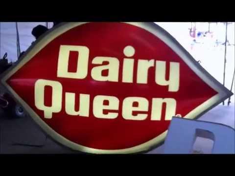 Dairy Queen Logo Sign Vintage 1970s