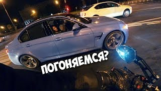 Меня сделала BMW M3   На мотоцикле по ночной Москве   Kawasaki Z750R