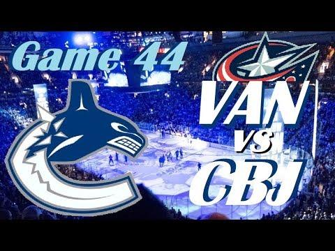 NHL - Vancouver Canucks at Columbus Blue Jackets - January 12, 2018