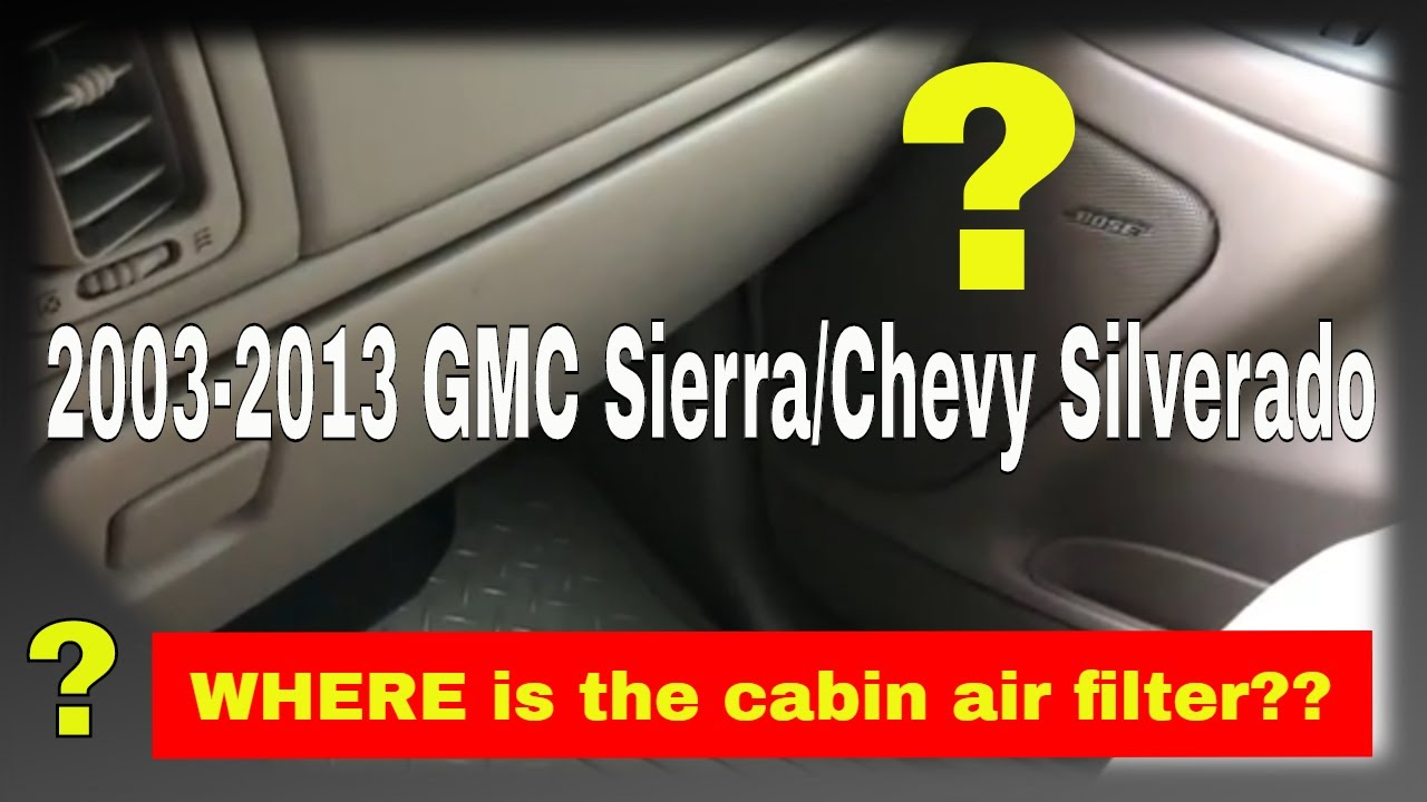 How to replace the cabin air filter in a 2003 GMC Sierra ...