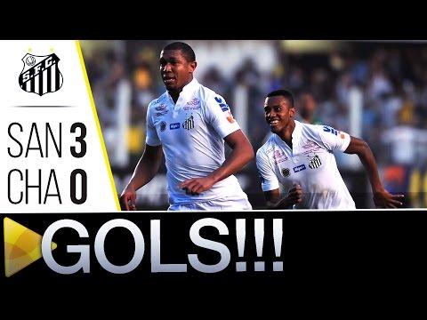 Santos 3 x 0 Chapecoense | GOLS | Brasileirão (03/07/16)