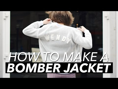 How to Make a Bomber Jacket | WITHWENDY