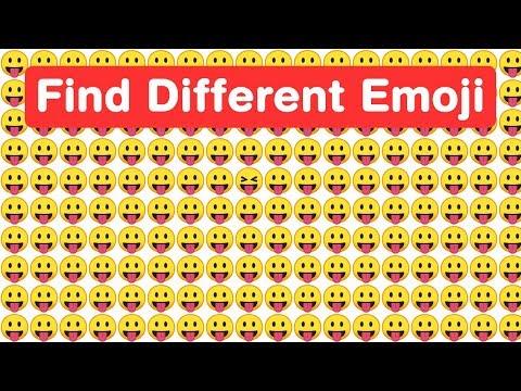 Genius Eyes Challenge! Find Odd Google Emoji in 15 seconds