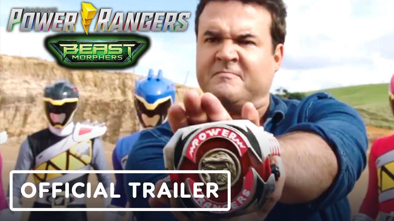 Power Rangers Beast Morphers Official Trailer Austin St John Red Mmpr Ranger Youtube