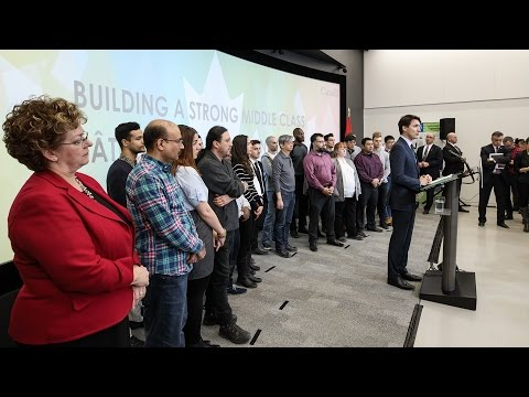 Prime Minister Trudeau delivers remarks at George Brown College