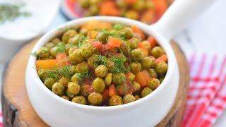 Zeytinyağlı  Taze  Bezelye  Tarifi ( Rengarenk nefis bir yemek)