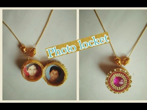 Photo locket - making of locket with photo |jewellery tutorials