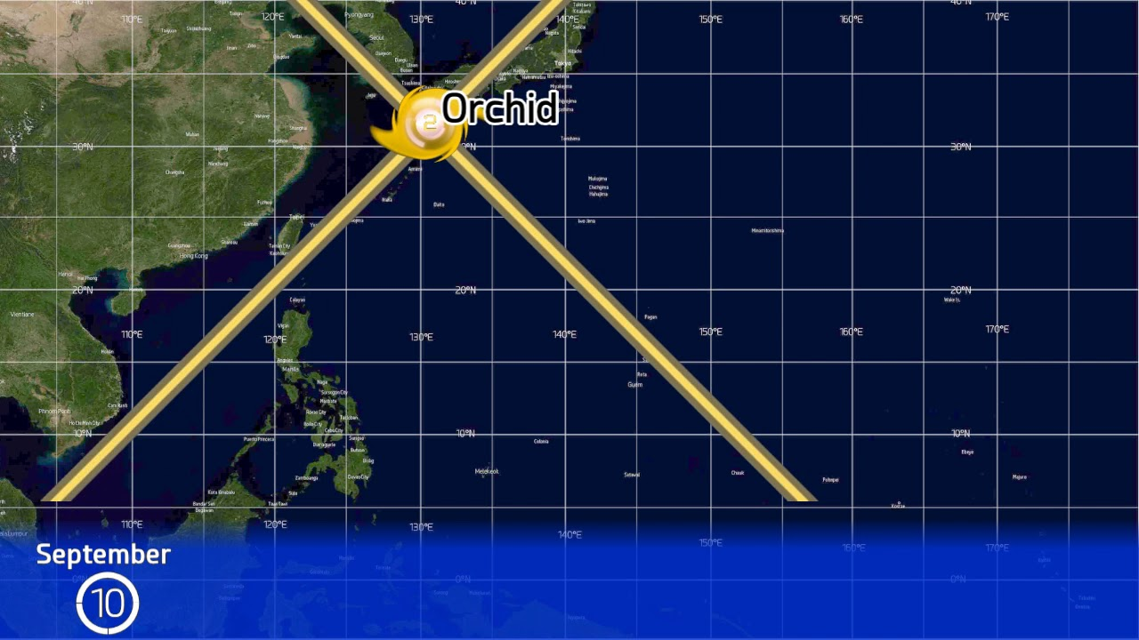 1980 Western Pacific Typhoon Season Animation