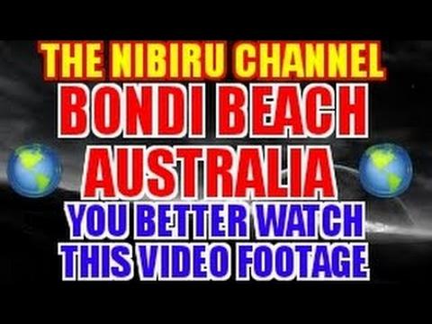 LARGE PLANETARY SHADOW CAUGHT ON CAMERA BONDI BEACH AUSTRALIA - 2017