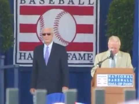 Gary Thorne intros all attending Baseball Hall of Fame Players @ Piazza & Griffey Induction (part 2)