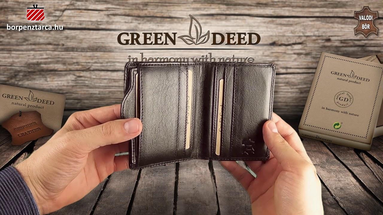 d06490e9a82c Elegáns bőr pénztárca GreenDeed KN37010 - YouTube