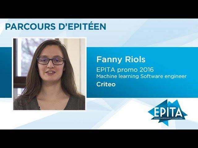 Parcours d'Epitéen - Fanny Riols (promo 2016) - Criteo