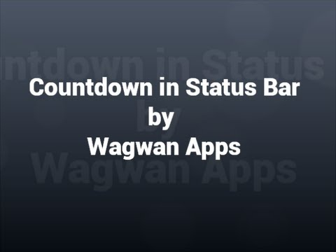 Countdown In Status Bar Apps On Google Play