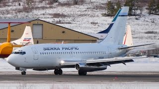 Sierra Pacific Airlines Boeing 737-200 Classic Landing at CYLW