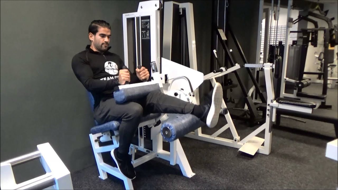 Seated Leg Curl Unilateral Youtube