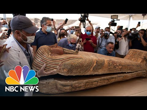 Egyptian Mummies Discovered After Being Buried For More Than 2,600 Years   NBC News