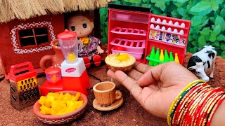 Miniature ice cream  Mango ice Cream  Homemade ice cream recipe  Barbie Tiny Food