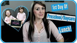 Twins Lunch For 1st Day Of Preschool|G-tube