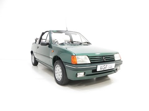 A Remarkable Peugeot 205 Roland Garros Cabriolet with One Owner and 53,977 Miles - SOLD!