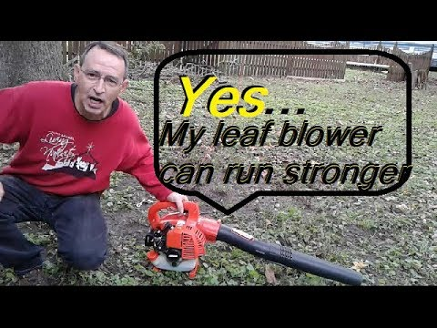 Yes! This ECHO Leaf Blower Can Run Stronger! Carburetor Adjustment PB-250LN