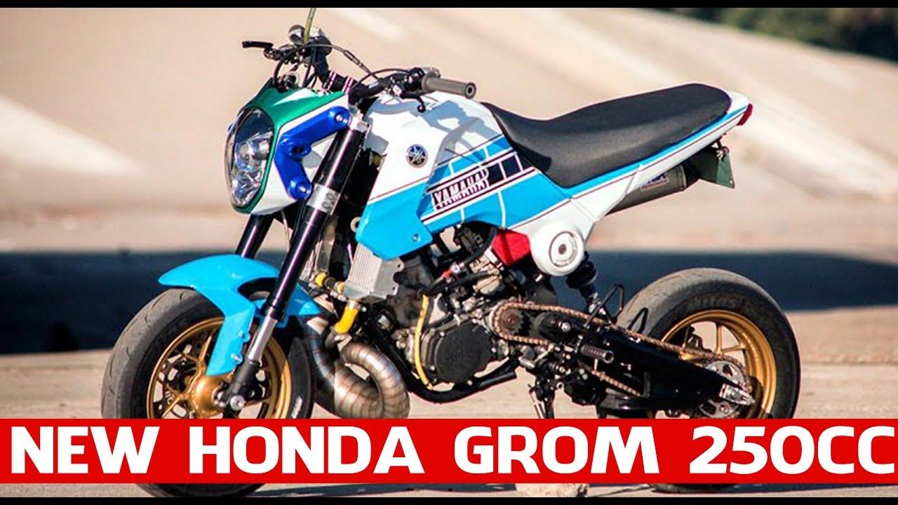 "New Honda Grom 250cc | The ""Gromaha"" – An Awesome Honda Grom/Yamaha YZ250 Mash Up! - YouTube"