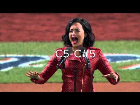 Vocal Range  Demi Lovato Singing the National Anthem! 2015