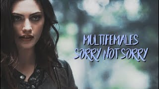 Gambar cover multifemales | sorry not sorry (collab)