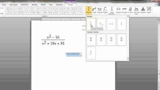 L'écriture d'Équations Mathématiques dans Microsoft Word