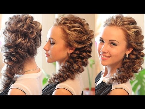 Hairstyle for long hair - Причёска с помощью резинок - с ускорением! - Hairstyles by REM