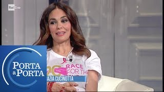 "Maria Grazia Cucinotta, testimonial di ""Race for the cure"" - Porta a Porta 16/05/2019"
