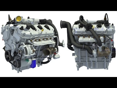 Turbocharged Direct Injection Gasoline Engine 3D Model