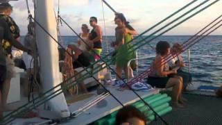 Hawaii Sunset Cruise - Outrigger Catamaran.3gp
