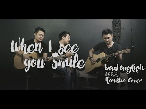 BAD ENGLISH - When I See You Smile ⎮ MOSES ( Acoustic Cover )