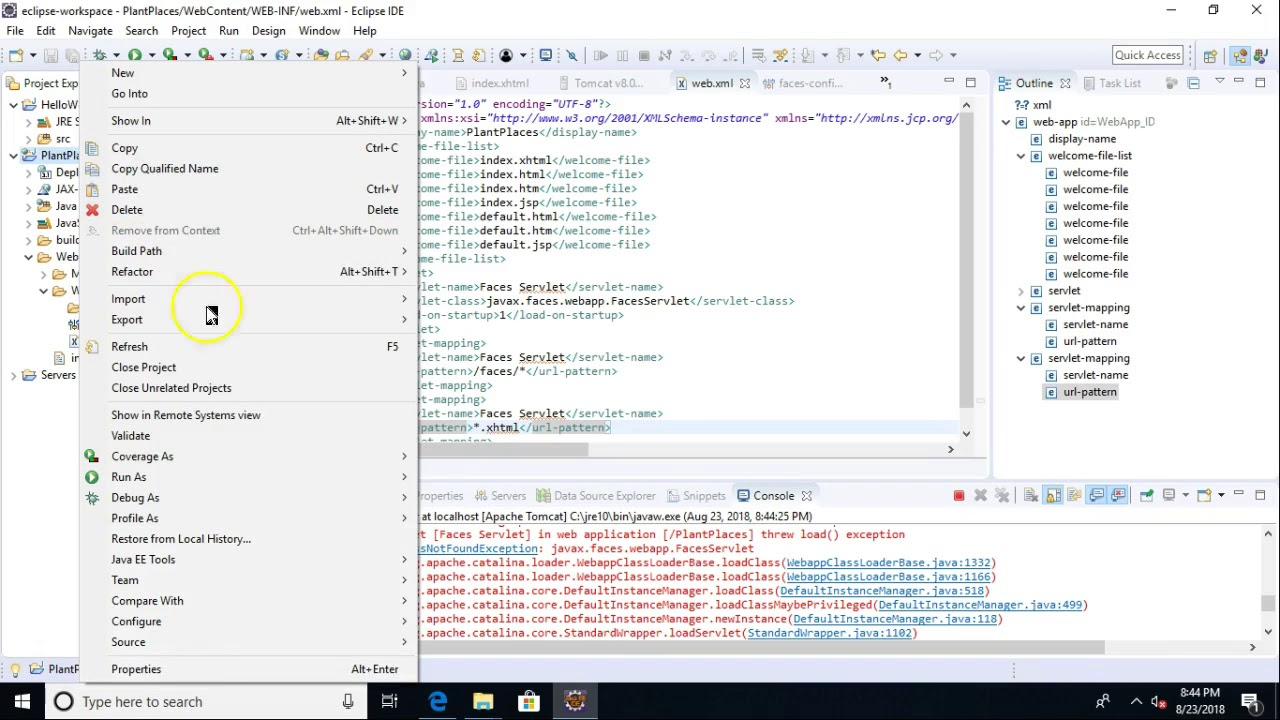 Add Maven and JSF 2 2 18 to Dynamic Web Project in Eclipse Photon