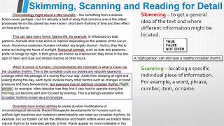 Increase your ielts reading band score by learning how to skim, scan and read for detail/comprehension/understanding effectively. using areal p...