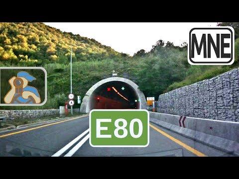 Crna Gora M2 E80 M2 4 E851 Skadarsko Jezero Sozina Tunnel