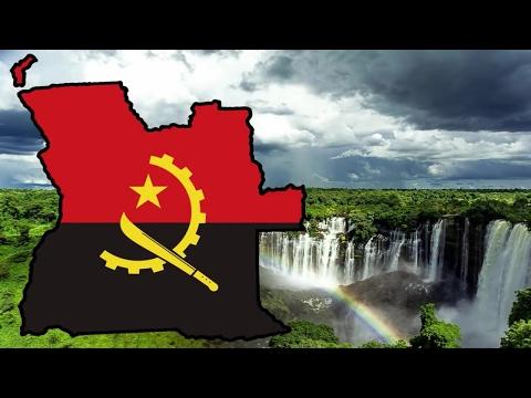 Flag Map Speedart - Angola