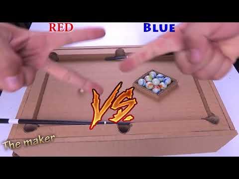 Diy a Simple Billiard 9 Ball  Desktop Game From cardboard -  Como Fazer Brinquedos De Papelão