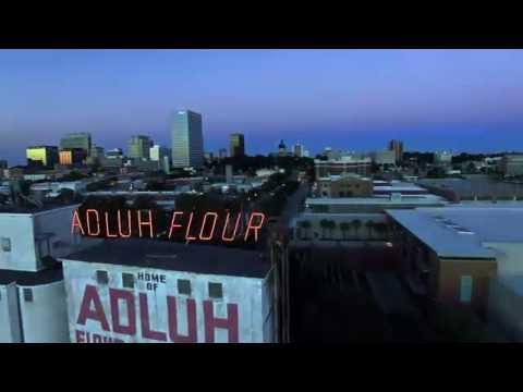 Adluh Flour Milling Company & the Columbia Skyline Aerial