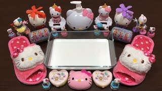 Special Series Hello Kitty Slime   Mixing Random Things Into Glossy Slime   Satisfying Slime Videos